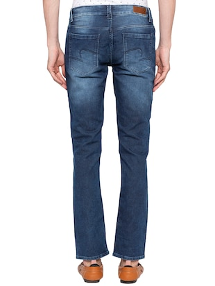 blue heavy washed jeans - 16140309 - Standard Image - 3