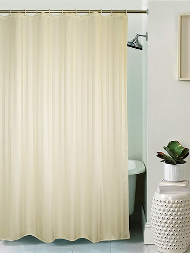 Thick Striped Water Repellent Shower Curtain Size 180x200 cm - 16142076 - Standard Image - 1