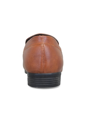 brown leatherette slipons - 16158018 - Standard Image - 3