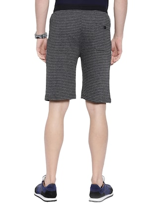 grey striped shorts - 16178736 - Standard Image - 3