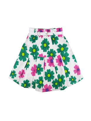 multi colored cotton regular skirt - 16183996 - Standard Image - 3