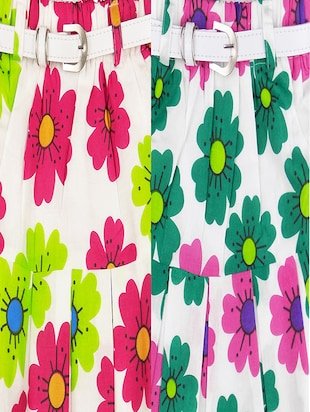 multi colored cotton regular skirt - 16183996 - Standard Image - 6