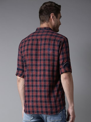 red checkered casual shirt - 16184267 - Standard Image - 3