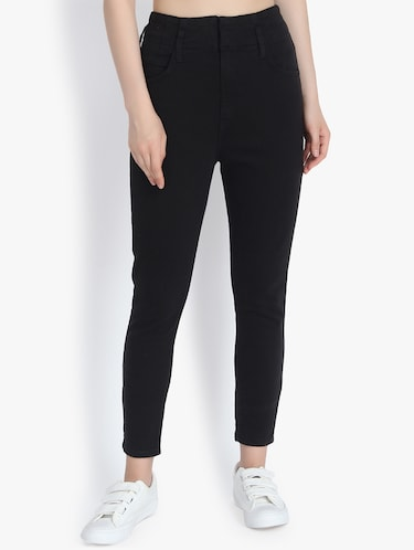 7133652a966fcd Buy kraus jeans black jeggings in India @ Limeroad