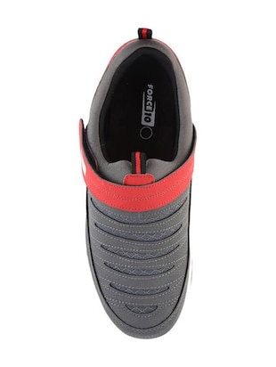 grey leatherette sport shoes - 16191296 - Standard Image - 3