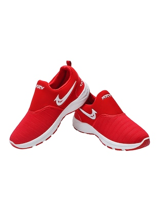red mesh sport shoes - 16195555 - Standard Image - 3