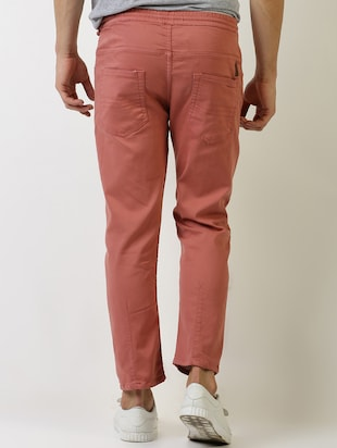 red solid plain jeans - 16196678 - Standard Image - 3