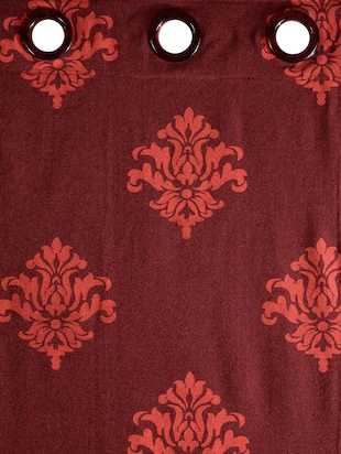 Single Polyester Window Curtain -   Maroon - 16220117 - Standard Image - 3