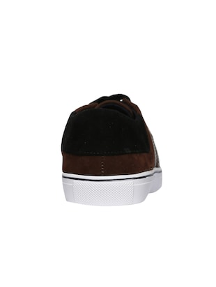 brown velvet lace up sneakers - 16224357 - Standard Image - 3