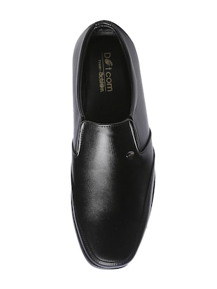 black leatherette slipons - 16224611 - Standard Image - 3