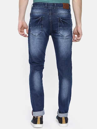 blue heavy washed jeans - 16252606 - Standard Image - 3