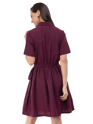 Ruffle detail a line dress - 16263162 - Standard Image - 3