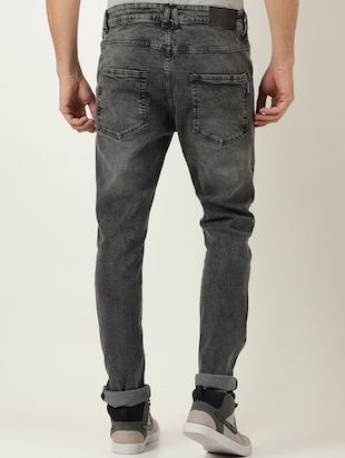 grey denim light washed jeans - 16265181 - Standard Image - 3