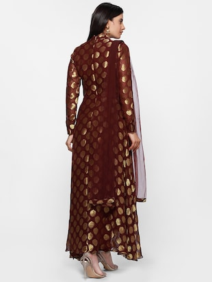 Brocade kurta churidaar  suit set - 16270560 - Standard Image - 3