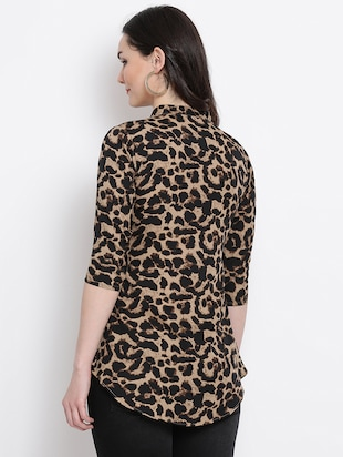 Animal prints asymmetric top - 16272439 - Standard Image - 3
