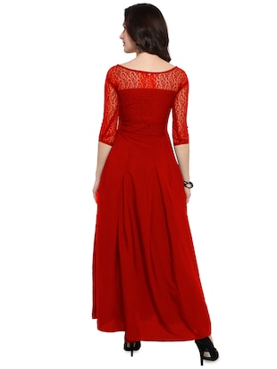 Boat neck pleated maxi dress - 16276937 - Standard Image - 3