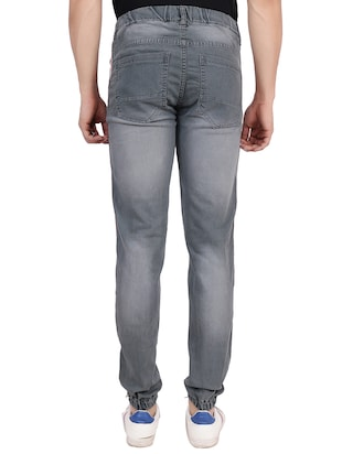 grey denim joggers - 16286418 - Standard Image - 3