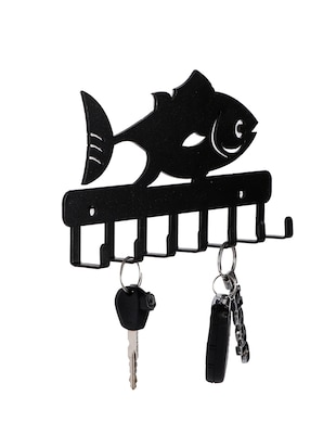 Sehaz Artworks Metel Wall Hooks for keys | 7 Hook Fish Wall Rack Holder for Kitchen Utensil | Hat Rack - 16289595 - Standard Image - 3