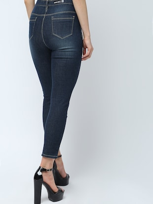 high rise stone washed jeans  - 16289706 - Standard Image - 3