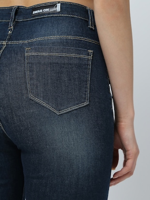 high rise stone washed jeans  - 16289706 - Standard Image - 6