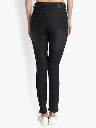 side tapped high rise jeans - 16293241 - Standard Image - 3