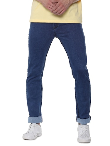 blue cotton plain jeans - 16293547 - Standard Image - 1