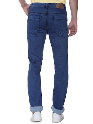 blue cotton plain jeans - 16293547 - Standard Image - 3