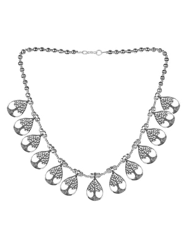 Buy mia by tanishq silver necklace and chains diamond in India