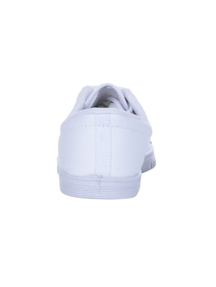 Liberty White Canvas Lace Up Sneakers