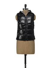 Quilted Reversible Sleeveless Jacket - By