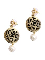 round gold plated pearl earrings -  online shopping for Sets