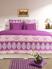 Purple Printed Double Dohar Cover -  online shopping for Quilt Covers