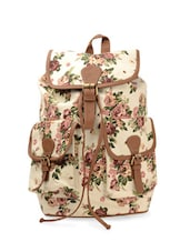 Floral Printed Canvas Backpack -  online shopping for backpacks