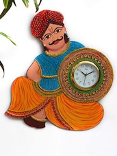 Rajasthani Papier-Mache Wall Clock -  online shopping for Alarm Clocks