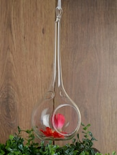 Teardrop Glass Hanging Tealight Holder -  online shopping for Candle stands