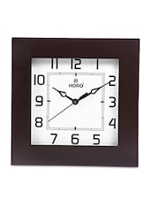 White MDF Square Wooden Case Wall Clock - By