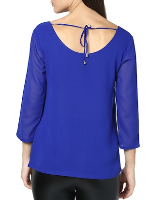 tie-up back scallop detail top - 951531 - Standard Image - 3