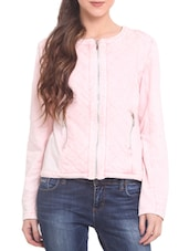 Pink Fleece  Long Sleeved Jacket - By