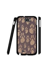Purple Plastic Cat Paws Printed Samsung Note 1 Phone Cover - By