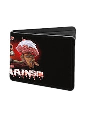 Black Leather Screams Leather Wallet - By