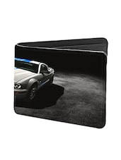 Black Leather Car Leather Wallet - By