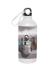 White Stainless Steel Quoted Water Bottle - By