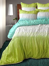 Multicolored Set Of Printed Cotton Quilt With 2 Shams - By