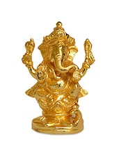 Gold Brass Ganesh Figurine -  online shopping for Figurines