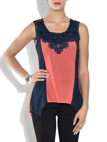 554a57b26740d red party wear tops redlovin