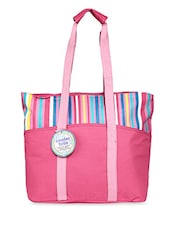 Pink Striped Tote Bag - By