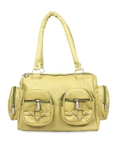 Green Faux Leather Shoulder Bag - By