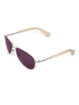 1fdda178ade Buy Cream And Silver Round Uv Protected Aviators by Mango Pickles - Online  shopping for Sunglasses in India