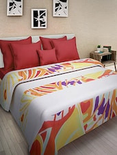 Multicolored Cotton Printed Double Bed Quilt - By - 9569861