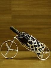 Silver Metallic Wine Holder - By